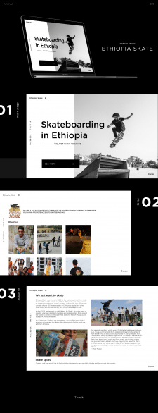 Ethiopia Skate website design.